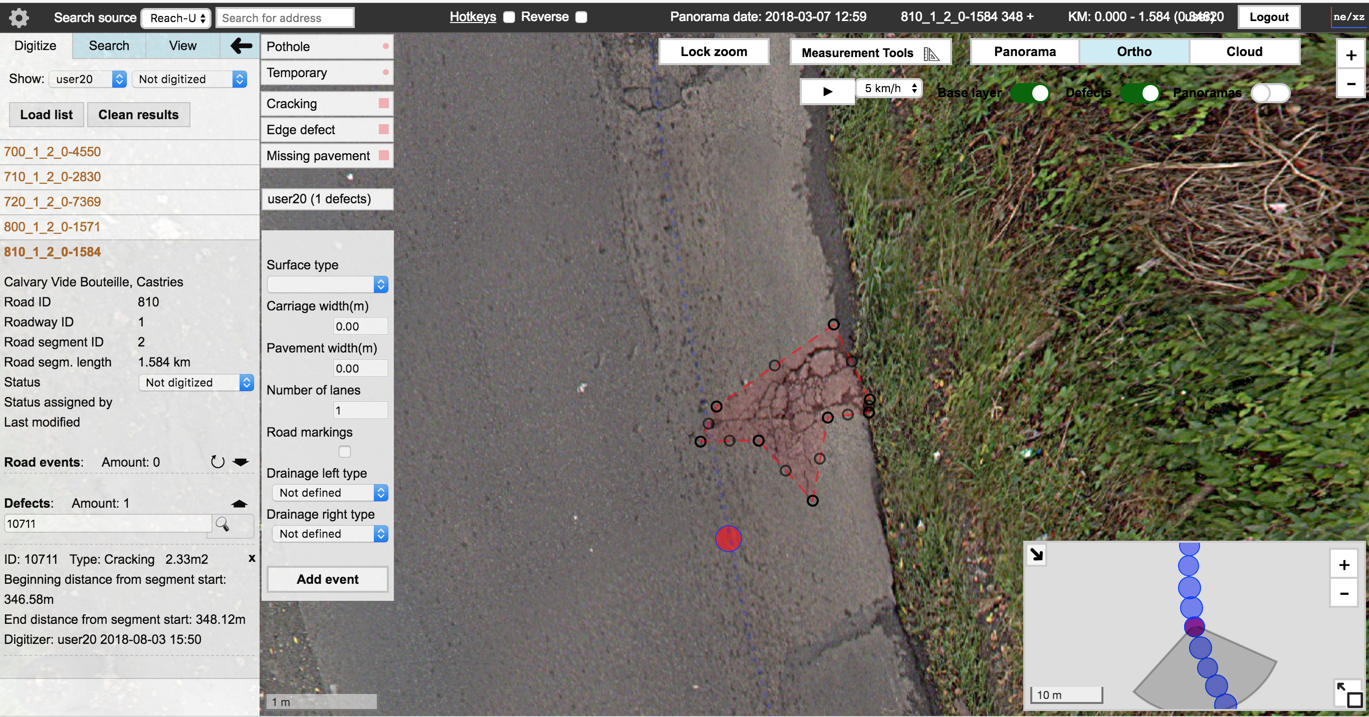 Pavement Distress Inventory